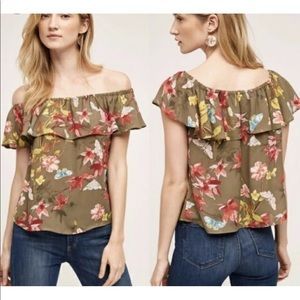 Anthropologie Maeve Off The Shoulder top  Size XS